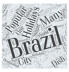 Brazil holidays word cloud concept vector