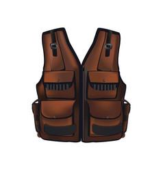 brown hunter vest vector image