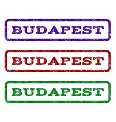 budapest watermark stamp vector image vector image