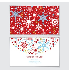 Business card template with snowflakes vector