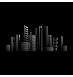City lights design in front of black background vector