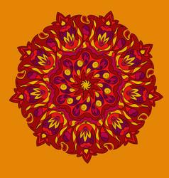 Colorful mandala hand drawn vector