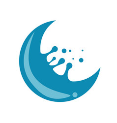 Crescent water splash vector