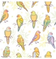 cute parrots seamless vector image vector image