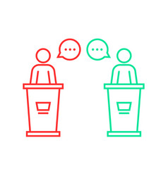 Debates between candidates vector