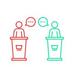 Debates between candidates vector