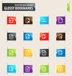 documents bookmark icons vector image vector image