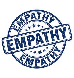 Empathy blue grunge stamp vector
