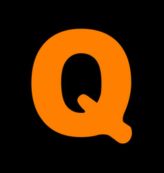 letter q sign design template element orange icon vector image vector image