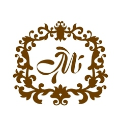 Luxury M monogram template vector image vector image