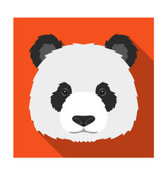 Panda icon in flat style isolated on white vector