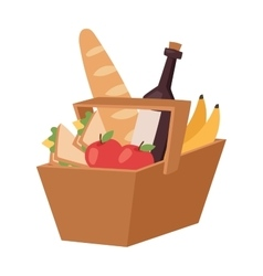 Picnic product basket vector