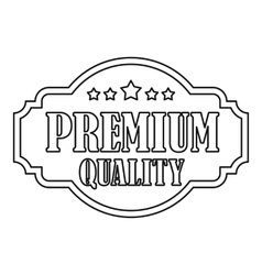Premium quality label with stars icon vector