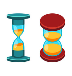 sand clocks isolated vector image