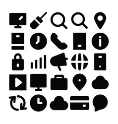 seo and marketing solid icons 2 vector image vector image