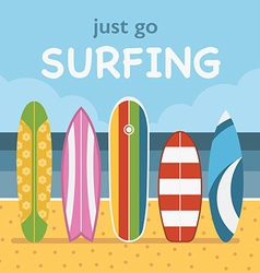 Surfing Travel Landscape vector image