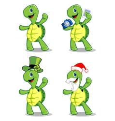 Turtle mascot vector
