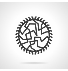 Viral infection black line design icon vector image vector image