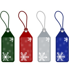 winter or christmas price tags vector image