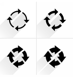 Arrow icon reload refresh rotation reset sign vector