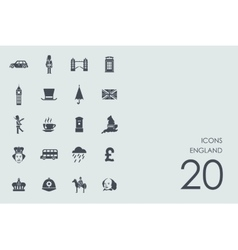 Set of england icons vector