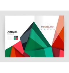 Geometric triangle business brochure template vector