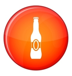 Bottle of beer icon flat style vector