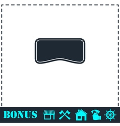 Swim mask icon flat vector
