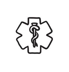 Medical symbol sketch icon vector