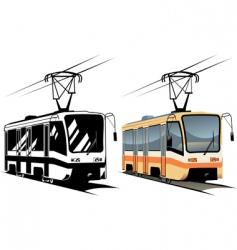 tramway vector image
