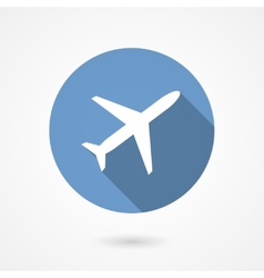 Trendy airplane icon vector
