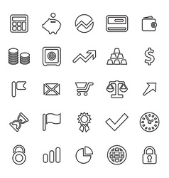 25 outline universal finance icons vector