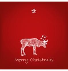 reindeer with snowflakes vector image