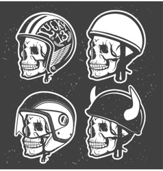 Motorcycle helmet vector