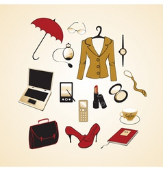 Business woman elements vector