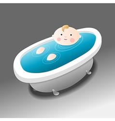 Boy in bath vector image