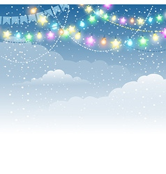 Festive christmas garland vector