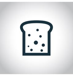 Toast black flat icon vector