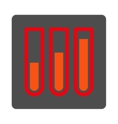 Blood analysis rounded square button vector