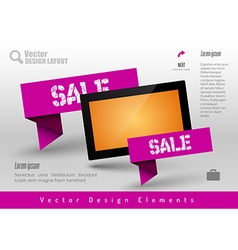 Business banner with modern display design vector