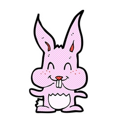 Comic cartoon rabbit vector