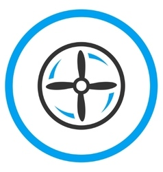 Aircraft screw rotation icon vector