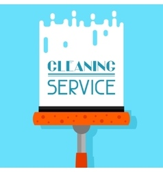 Housekeeping background with window cleaner image vector