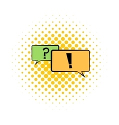 Speech bubbles comics icon vector