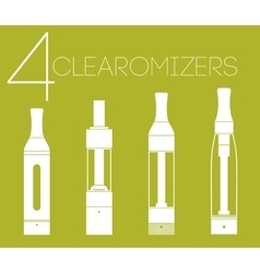 4 clearomizers set vector