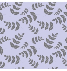 Seamless pattern branches with leaves vector image