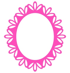 Beautiful picture frame - luxury pink vector