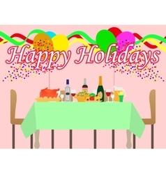 a festive table vector image vector image