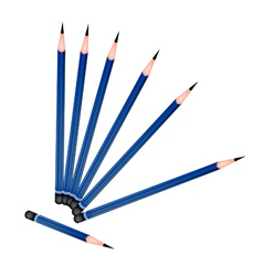 A Group of Sharpened Pencils on White Background vector image vector image