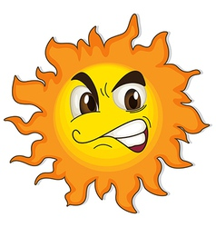 A sun with a face vector image vector image